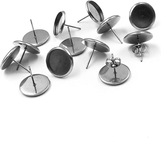 Stainless Steel Earring 6 x 12 mm Earring Posts Stainless Steel