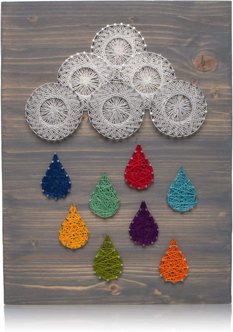 Amazon Com Diy String Art Kit Raindrops String Art Kit Diy Adult Crafts Kit Includes All Supplies Nursery Wall Art Baby Shower Gift String Art Wall Hanging