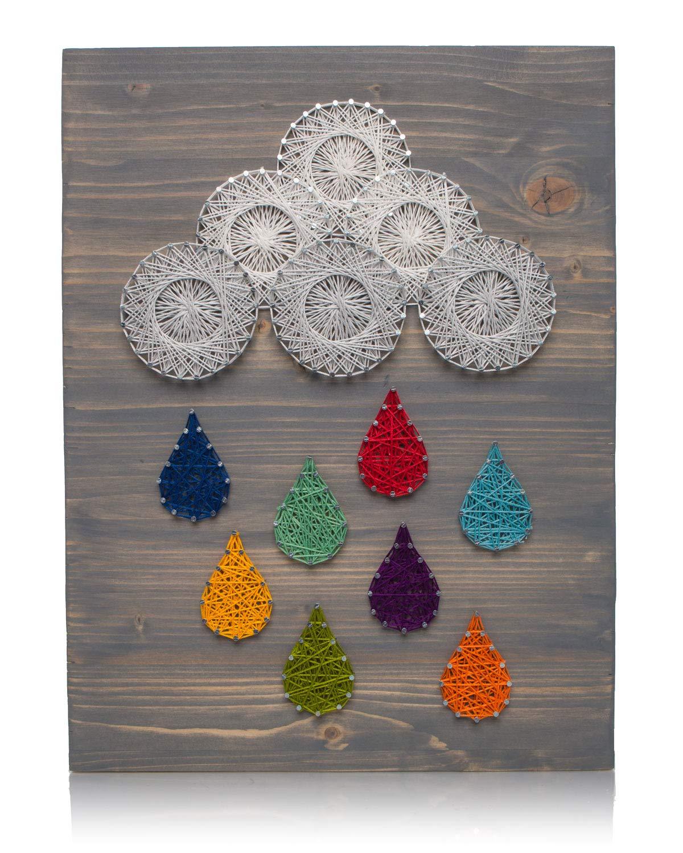 Amazon Com Diy String Art Kit Raindrops String Art Kit