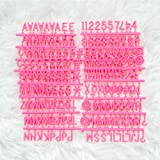"""Pink Plastic Letter Set for Changeable Felt Letter Boards. 3/4"""" Letters, Set of 300 Characters by Felt Like Sharing."""