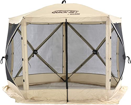 Quick-Set 15219 Venture Portable Outdoor Camping Gazebo Canopy Shelter Screen Tent