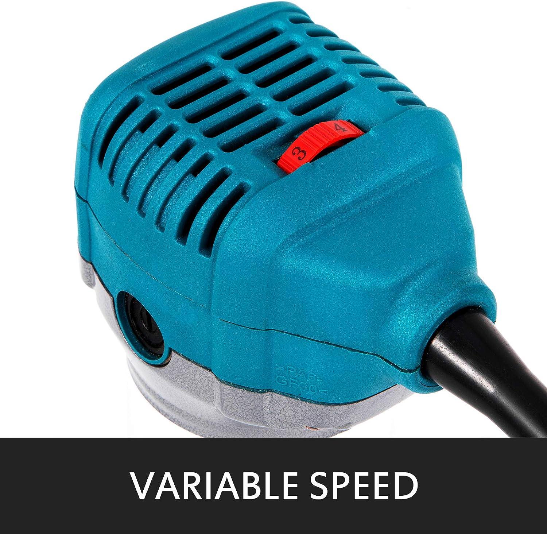 VEVOR Fresadora El/éctrica Router de Madera Compacto con Abrazadera Speed Max a 30,000 rpm Base de Buceo Router de Madera El/éctrico