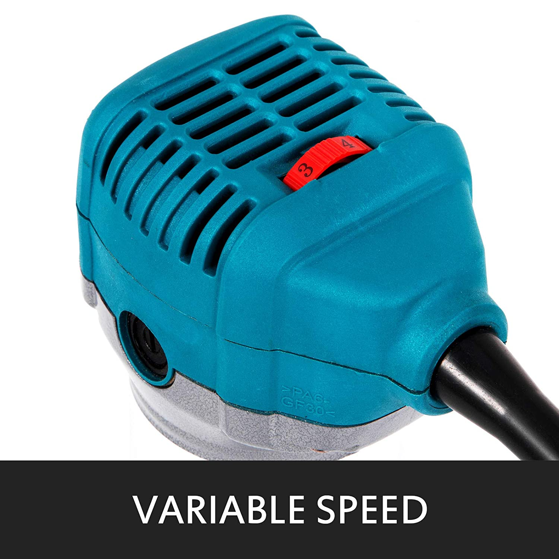 Mophorn Fresadora El/éctrica Router de Madera Compacto con Abrazadera Speed Max a 30,000 rpm Base de Buceo Router de Madera El/éctrico