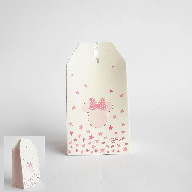 Bomboniera Scatola Busta Confetti Minnie Disney Rosa Set 20 pz Art 68071