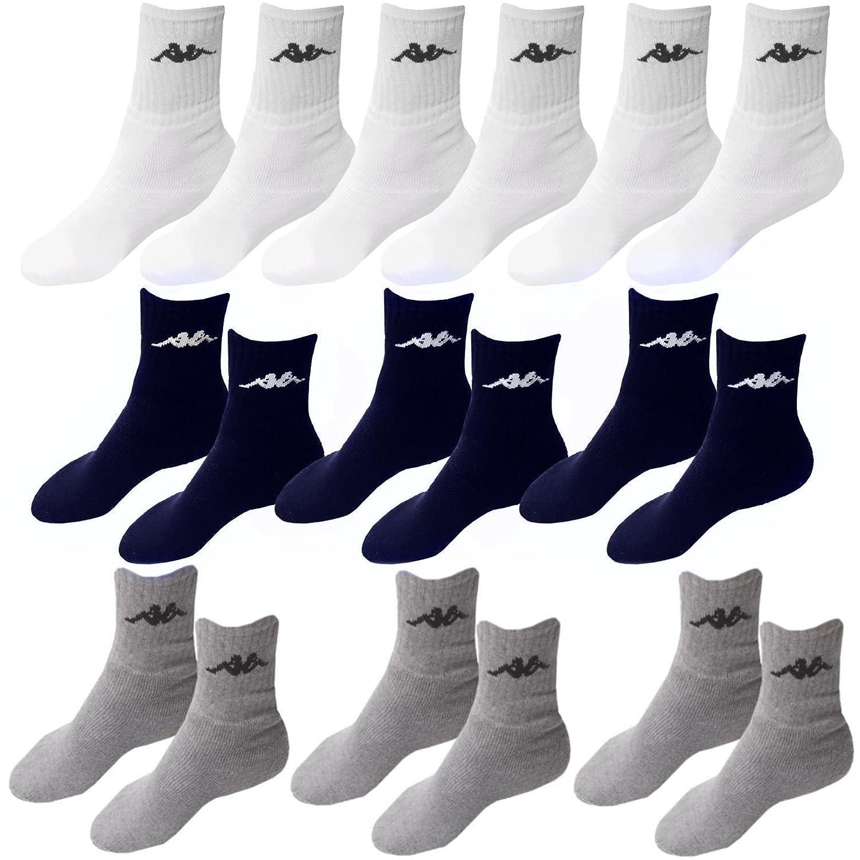 9 Paar Socken Kappa 3 Farben Größe 39 - 42 Tennissocken Strümpfe Arbeitssocken Herrensocken Socke Unbekant