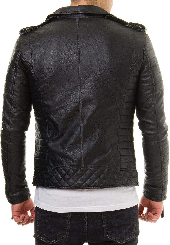 Ayesha Mens Leather Jackets Motorcycle Bomber Biker Genuine Lambskin 434