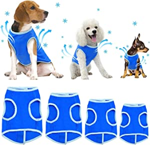 SELMAI Dog Swamp Cooler Vest Harness Evaporative Jacket Comfort Adjustable Breathable Cooling Coat for Small Medium Large Cat Shirt for Pet Walking Hunting Training Sport Outdoor Hiking in Summer
