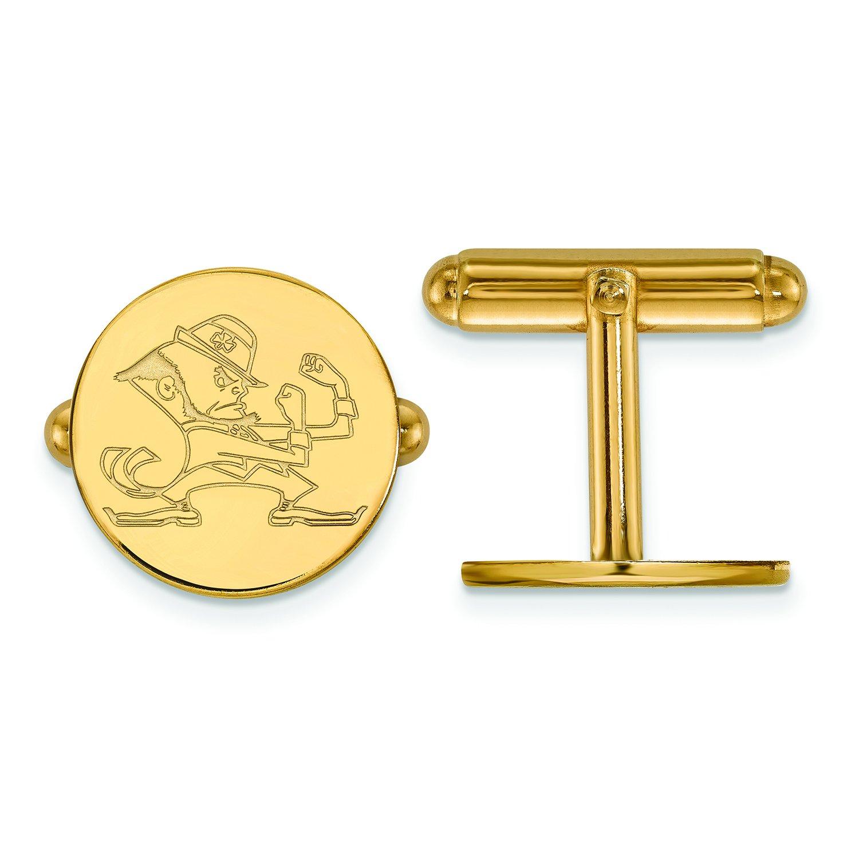Logoart Sterling Silver Gp University Of Notre Dame Cuff Link