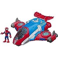 Hasbro Playskool Heroes Marvel Super Hero Adventures Spider-Man Jetquarters, 5-Inch Action Figure and Vehicle Set, Toy…