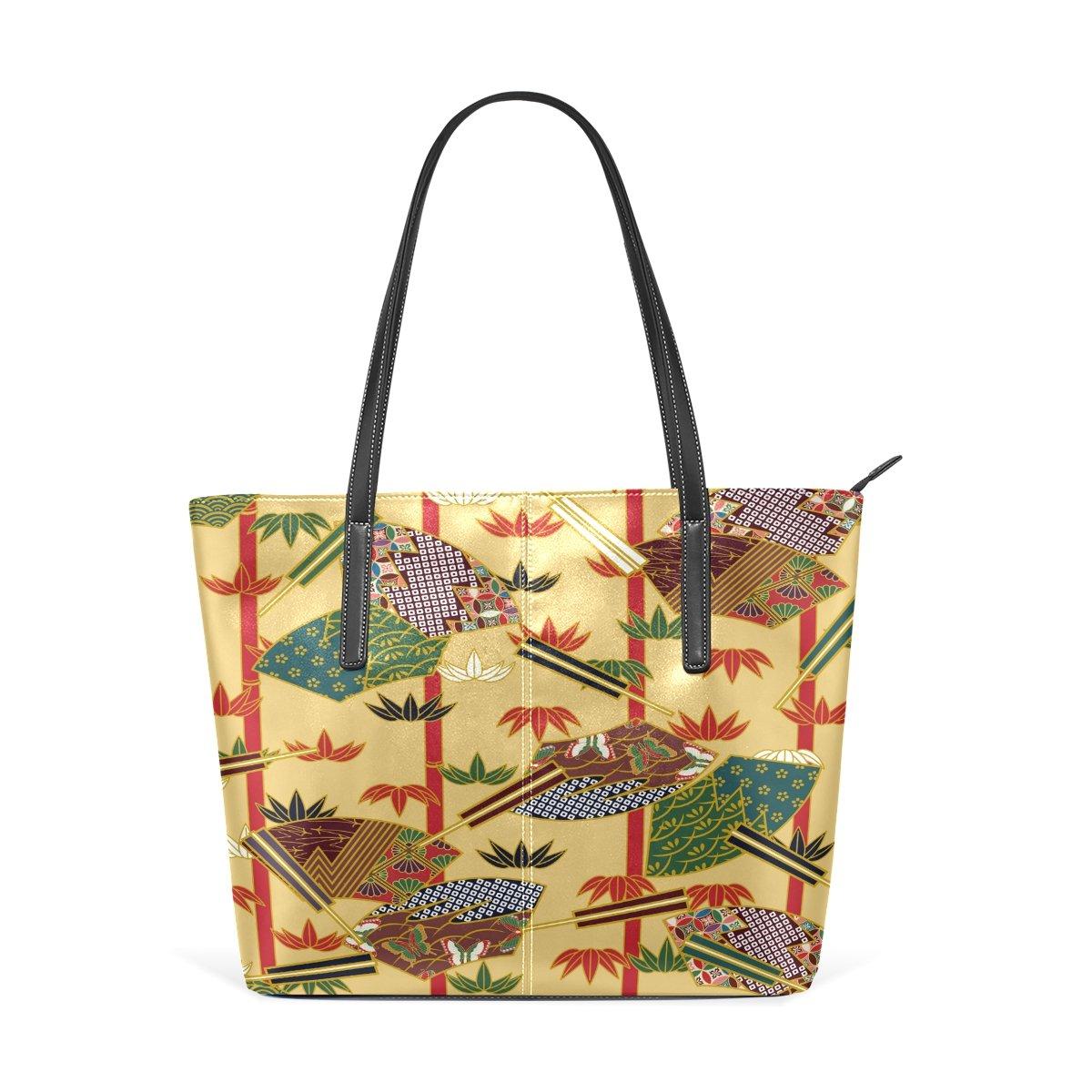 Womens Leather Top Handle Shoulder Handbag Bamboo Large Work Tote Bag