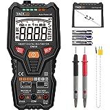 Multimètre, Tacklife DM06/Multimètre Numérique /Gamme Automatique 6000 Comptes /Mesure intelligente à un bouton/ Test de Tension,Courant,Température,Transistors