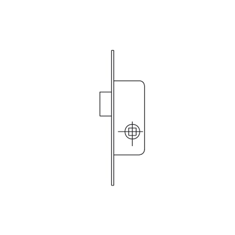 Cerradura Monopunto para Perfiles Met/álicos,Entrada 30mm 221120AI Set de 1 Pieza Inox Tesa Assa Abloy