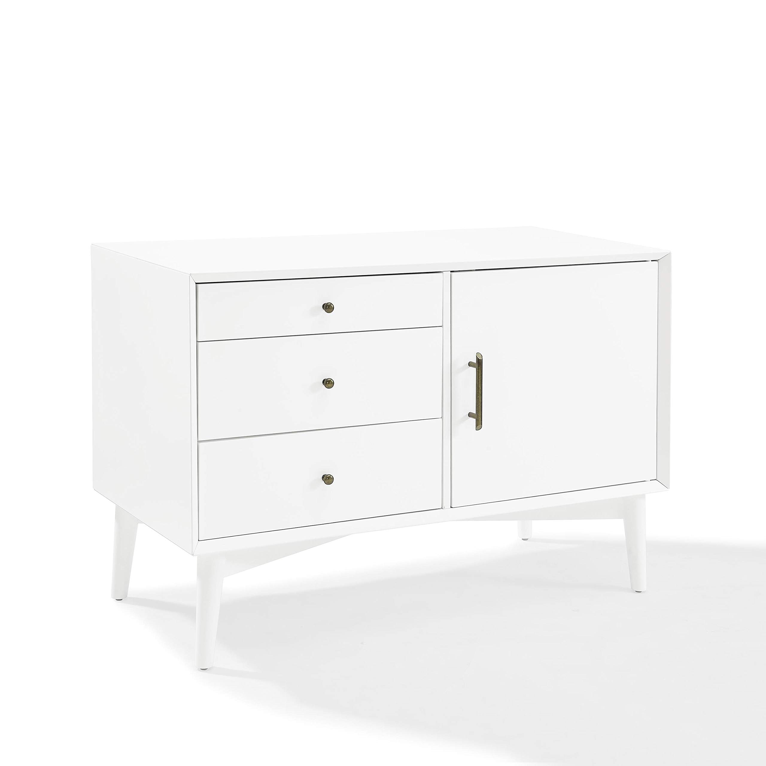 Crosley Furniture Landon Mid-Century Media Console - White by Crosley Furniture