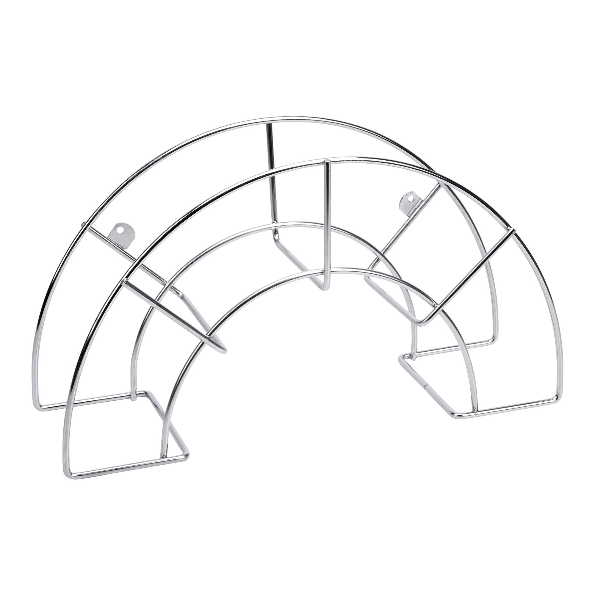 SAUVIC 3303 Large 304 Wall Hose Stand, Stainless Steel