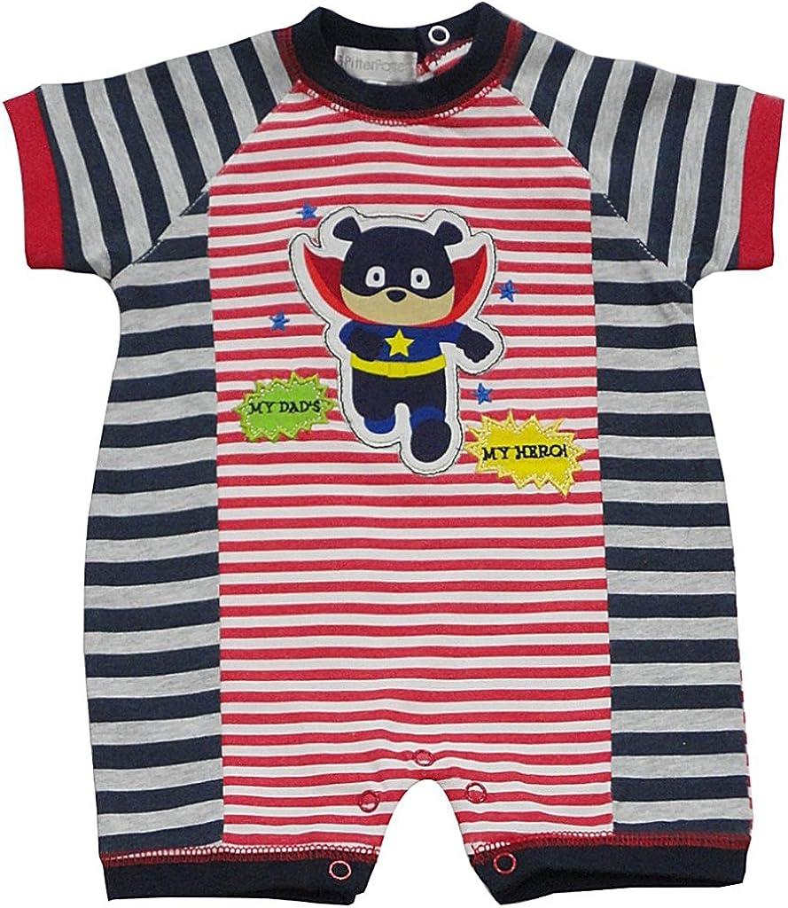 Manga corta Pitter Patter para beb/é ni/ño Mono corto Mono