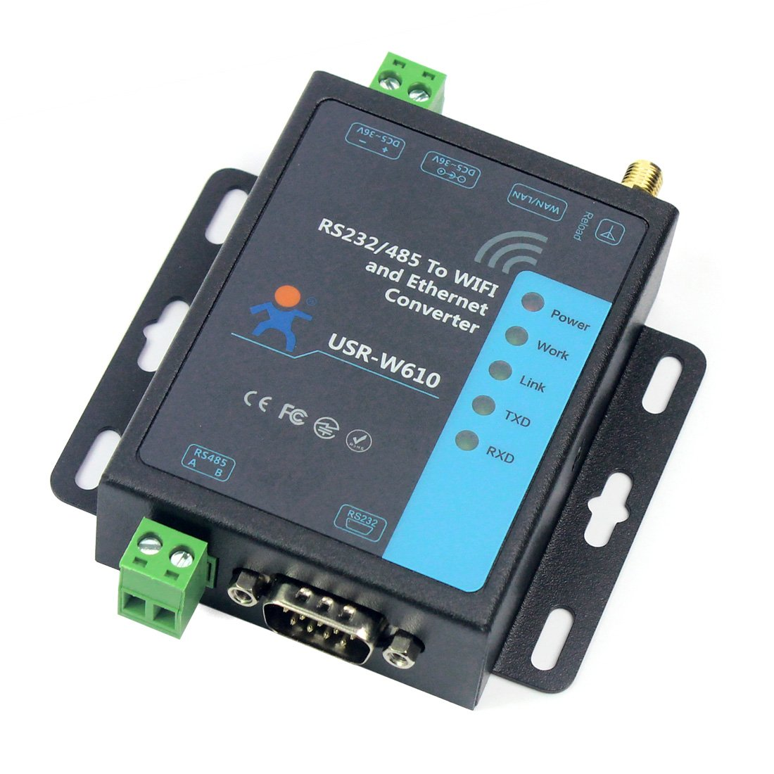 BGNing USR-W610 Serial to WiFi Ethernet Wireless Converter RS232 RS485 Serial Server Support WatchDog Modbus Gateway TCP UDP by BGNing