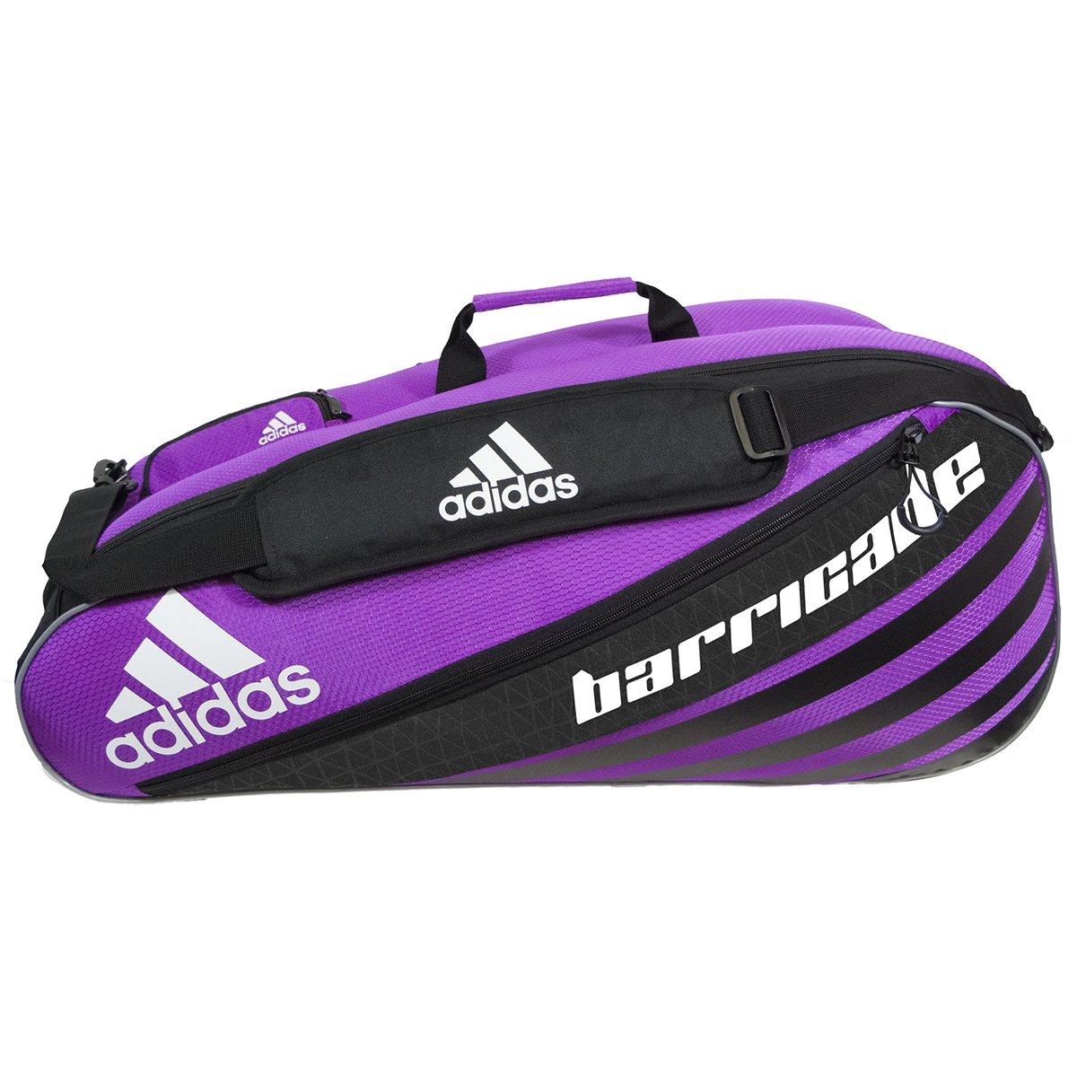 adidas Unisex Bag, Barricade IV Tour Tennis 6-Racquet Bag, Flash Pink/Black, One Size