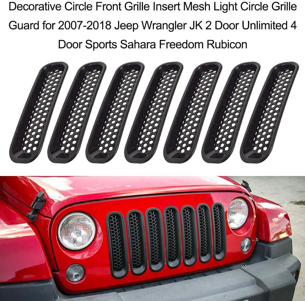 KKmoon 7PCS Dekorationsreifen f/ür 2007-2018 Jeep Wrangler JK 2 Door Unlimited 4 Sport Door Sahara Freedom Rubicon