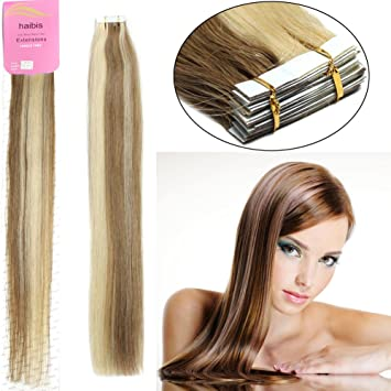 Amazon habis remy human hair extensions tape in straight habis remy human hair extensions tape in straight hair 10pcs12613 16 pmusecretfo Choice Image
