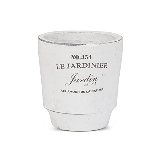 Christmas Tablescape Decor - Small white French jardinier planter pot