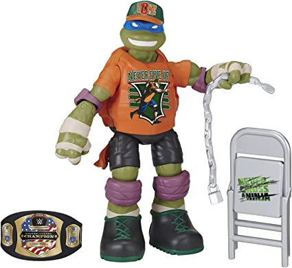 Teenage Mutant Ninja Turtles Ninja Super Stars: Leonardo as John Cena Figure