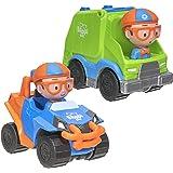 Blippi BLP0017 Mini Vehicles 2 Pack, Blippi Mobile and Garbage Truck