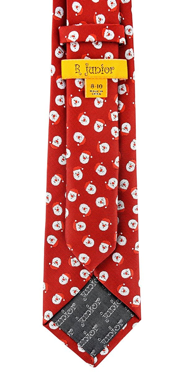 Retreez Christmas Happy Santa Claus Woven Boys Tie 8-10 years