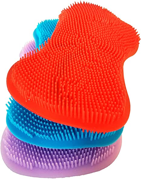 Scouring Pad Silicone Scrubber Sponge Dish Wash Cleaning Brush Kitchen Cleaner C