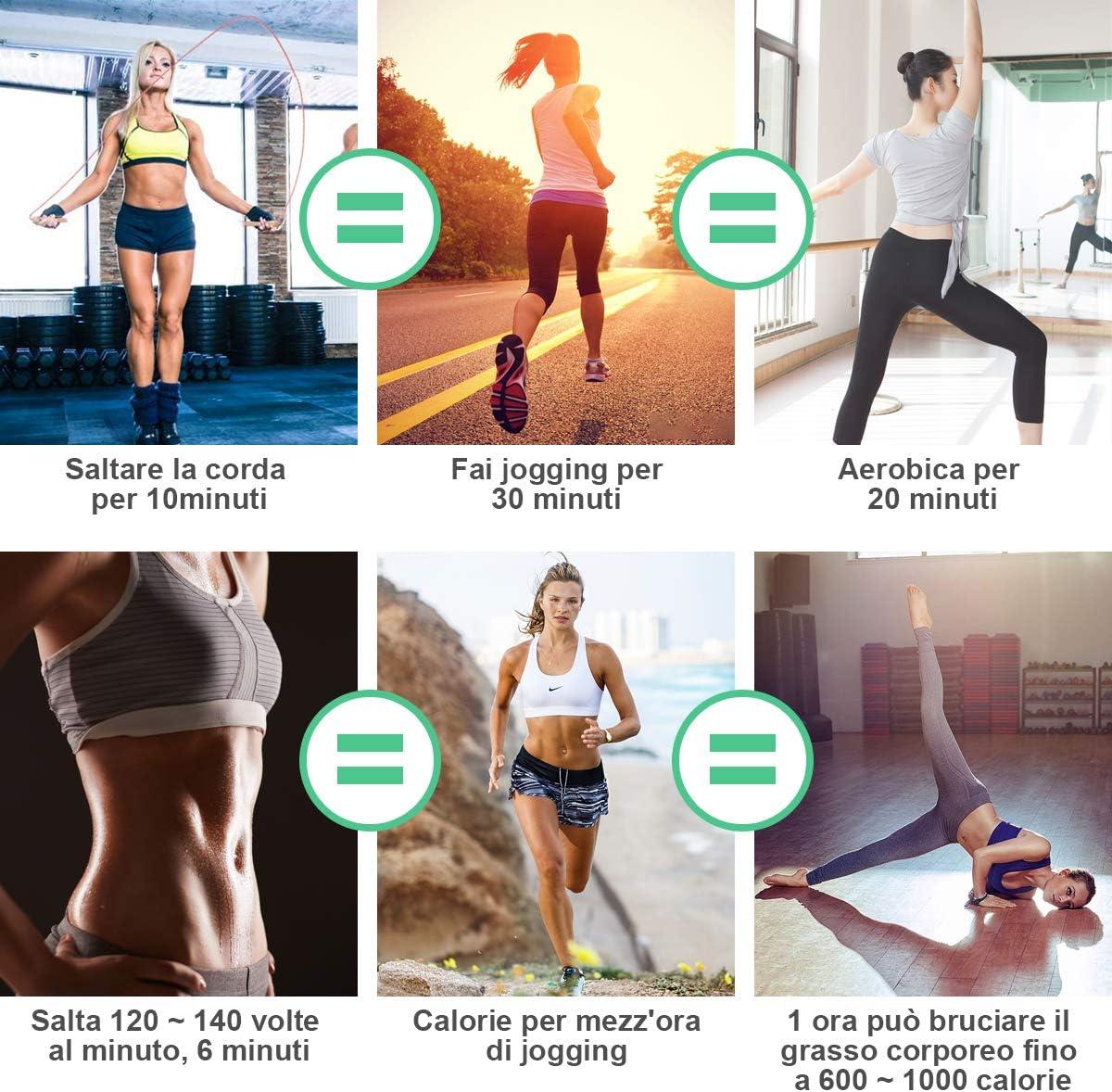 chenpaif Corda per Saltare Saltare per Allenamento Sport Palestra Allenamento Esercizio Fitness Perdere Peso