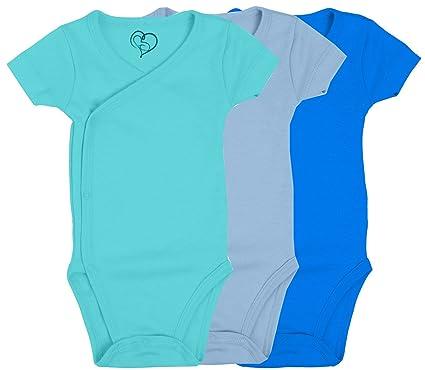 611171729 Amazon.com: LMB Baby Baby Bodysuit Made with Organic Cotton - Short Sleeve  Kimono Style with Side Snaps: Clothing