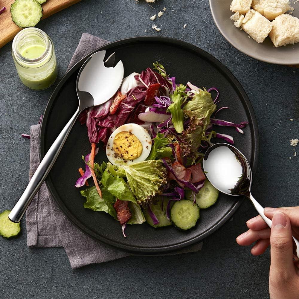 ho Lot de 2 couverts /à salade en acier inoxydable et 2 fourchettes /à salade en acier inoxydable pour cuisine salle /à manger