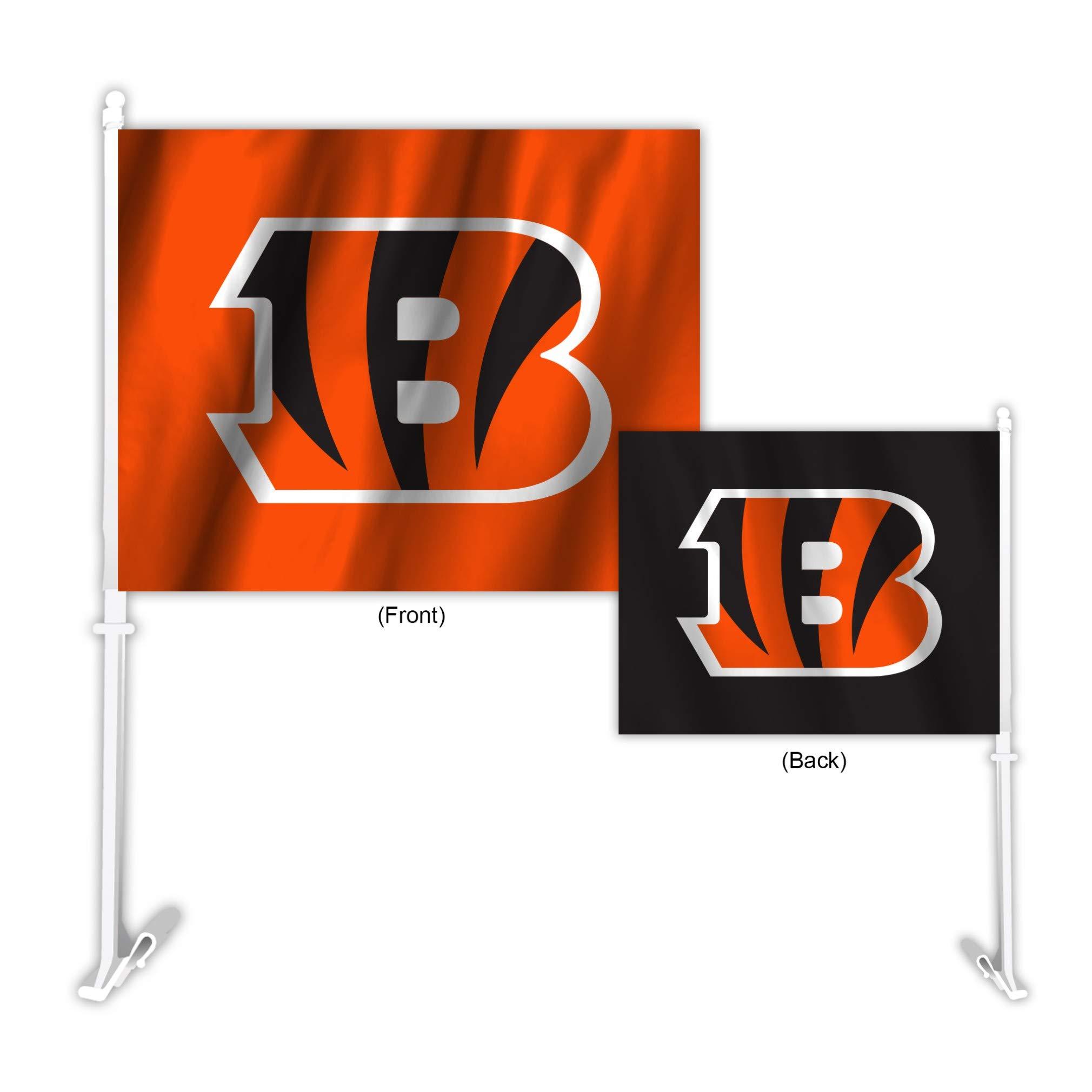 Fremont Die NFL Cincinnati Bengals Home & Away Car Flag