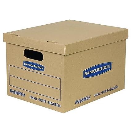 Bankers Box smoothmove – cajas de cartón, tape-free Asamblea, pequeñas, 15