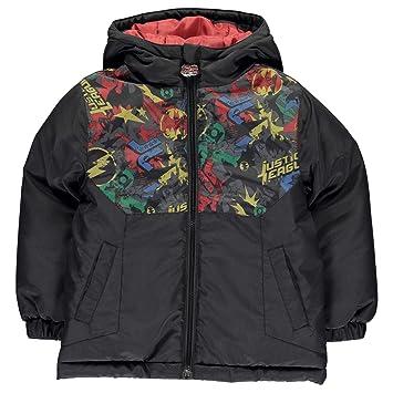 DC Comics Liga de la justicia chaqueta acolchada para niña niño niños negro abrigo Outerwear, negro: Amazon.es: Deportes y aire libre