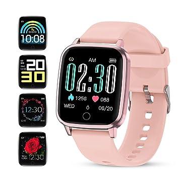 GOKOO Smartwatch Mujer Reloj Inteligente Deportivo Rosa ...