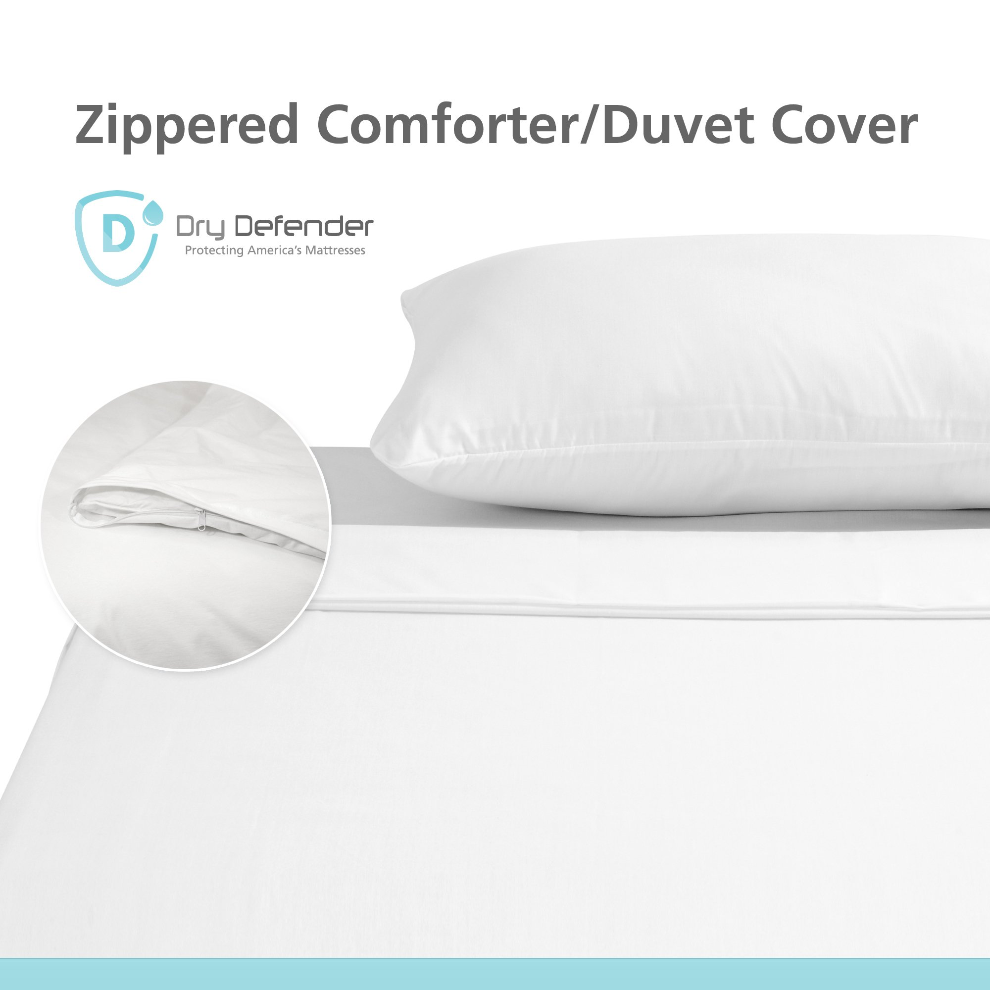 Dry Defender Premium Waterproof Comforter/Duvet Cover - Twin Size