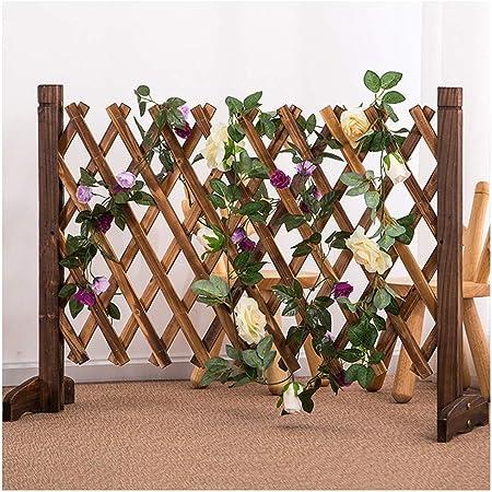 WY Garden Valla de Madera para jardín, no Cava, Valla Flexible para Flores, 4 tamaños, Madera, marrón, 120X70CM: Amazon.es: Hogar
