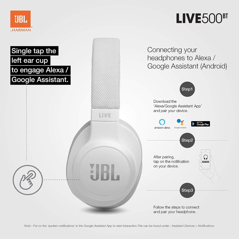 JBL LIVE 500BT - Auriculares Inalámbricos con Bluetooth ...