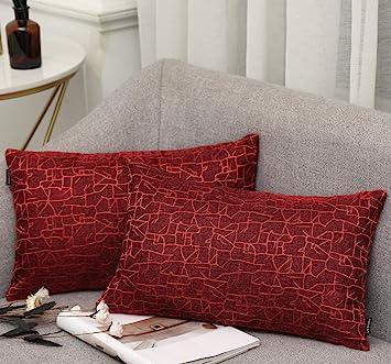Vioaplem - Funda de cojín Bordada de algodón, Lino, para sofá ...