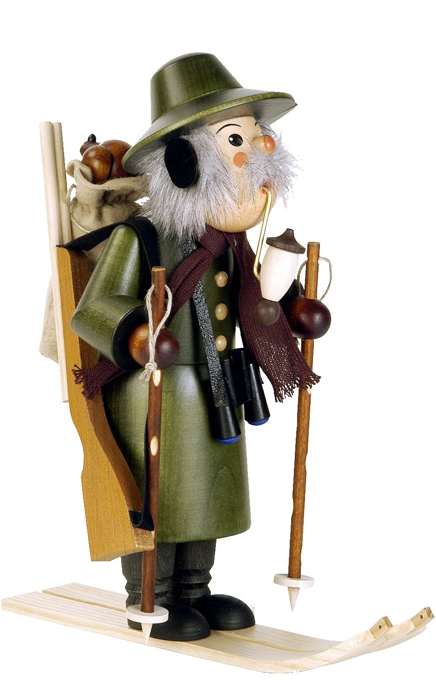 35-265 - Christian Ulbricht Incense Burner - Ranger on Skis - 10.5''''H x 5''''W x 9.5''''D