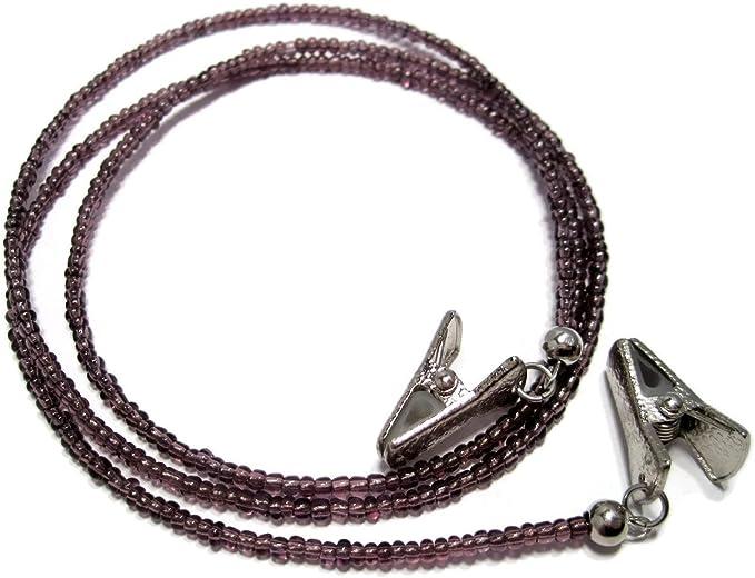 Eyeglass Lanyard With Clips 329 ATLanyards Pink Purple Orange Eyeglass Holder with Clips
