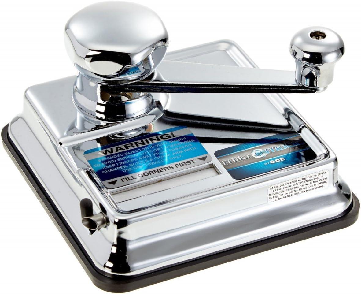 OCB Micromatic - Máquina de cigarrillo doble, cromado, 15?x 15?x 10?cm