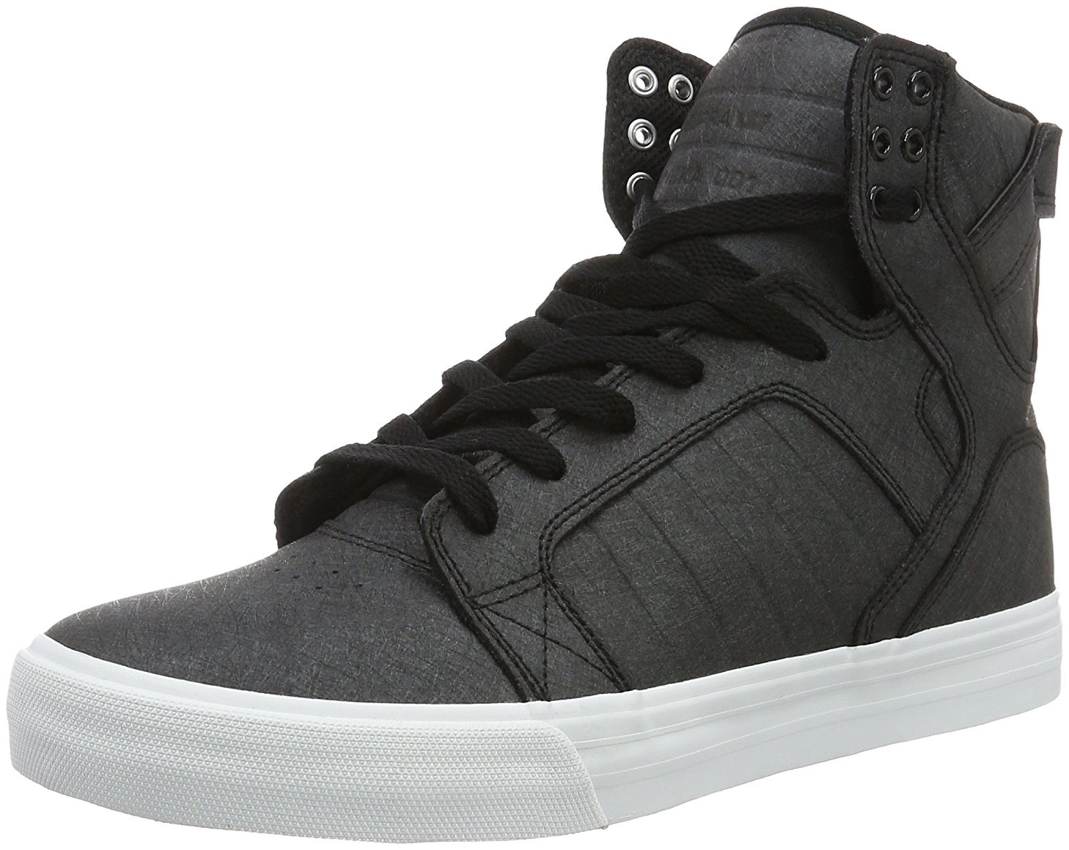 Supra Men's Skytop Black Fiberglass/White Sneaker Men's 9.5, Women's 11 D (M) by Supra