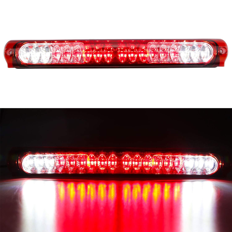 Chrome Housing Red Lens Red Led 3Rd Third Brake Light For 1997-2003 Ford F-150 F150