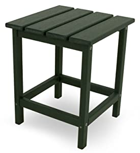 "POLYWOOD ECT18GR Long Island 18"" Side Table, Green"