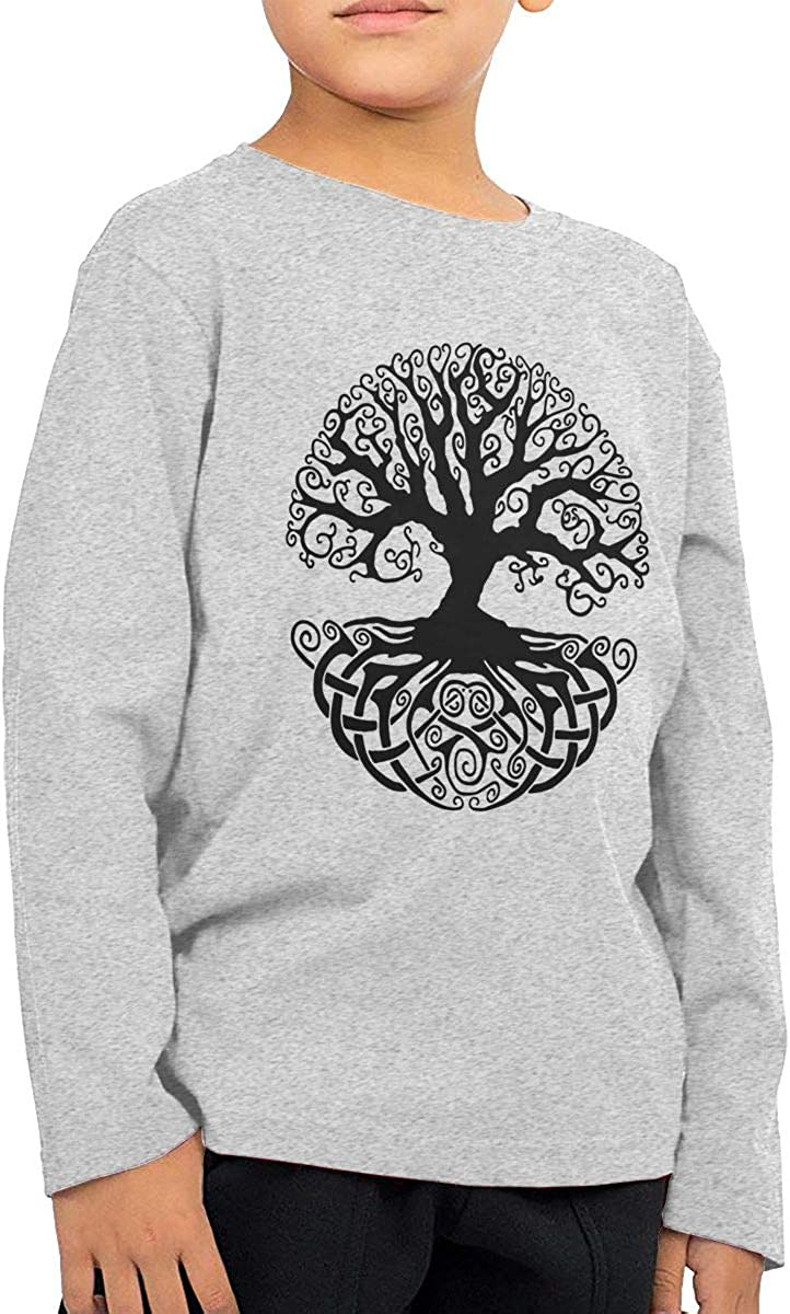 CERTONGCXTS Baby Boys Kids Celtic Tree Knots ComfortSoft Long Sleeve T-Shirt