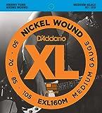 D'Addario ダダリオ ベース弦 ニッケル Medium Scale .050-.105 EXL160M 【国内正規品】