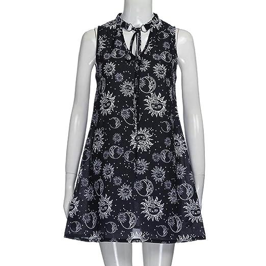 Womens Dresses, Sunmoot Sexy Mini Dress Halter Dress Choker Style Sleeveless Party Dress at Amazon Womens Clothing store: