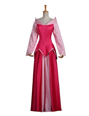 d8d0a6c7a49b Cosrea Cosplay Sleeping Beauty Princess Aurora Classic Satin With Brocade Cosplay  Costume Custom Sizing (M): Amazon.co.uk: Clothing
