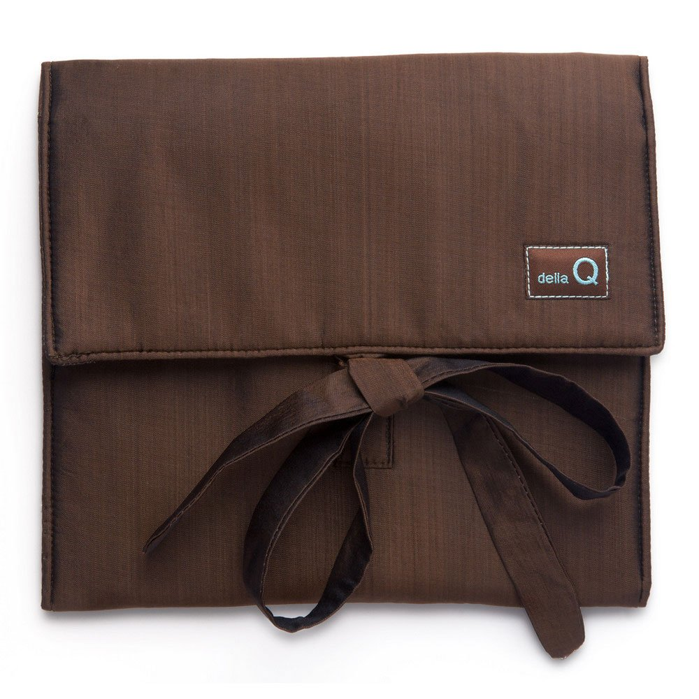 della Q The Que Knitting Case for Smaller-Size Circular Knitting Needles; 041 Brown 139-2-041